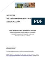 Apuntes analisis cualitativo