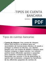 tipos de cuenta bancaria