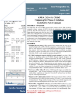 CARA 2Q14 Research Report (Janney)