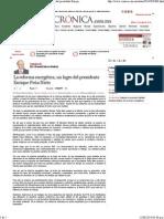 12-08-14 La Reforma Energética, un logro del Presidente Enrique Peña Nieto