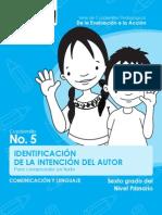 5_sexto_lectura_identificación de La Intención Del Autor