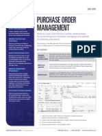 Acumatica Data Sheet Purchase Order Management