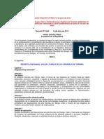 Decreto Con Rango Valor y Fuerza de Ley Organica de Turismo 2012