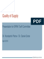 Petrov Quality of Supply Regulation Tariff Budapest 2010 Eng