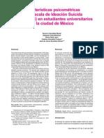 Características Psicométricas de La Escala de Ideación Suicida de Beck (ISB) en Estudiantes Universitarios de La Ciudad de