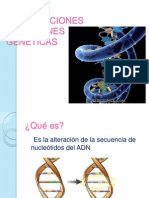 Modificaciones Mutaciones Geneticas