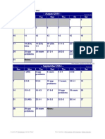 Tentative Accounting 1 Calendar