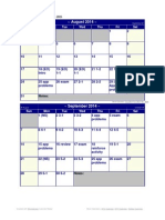 Tentative Accounting 2 Calendar