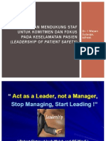 Leadership of Patient Safety
