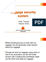 Luggage Security System