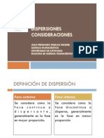 1 Dispersiones. Consideraciones