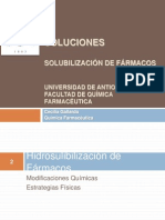 2. Soluciones. Solubilización de Farmacos