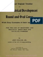 The Geometrical development of round and oval cones