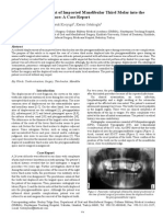 Iatrogenic Displacement of Impacted Mandibular Third Molar Into the Pterygomandibular Space 2247 2452.1000563