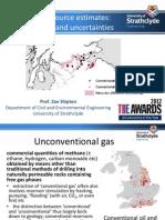 Shale Gas Resource Estimates - Zoe Shipton 1