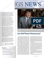School of International Graduate Studies News article about Aid Dependence in Cambodia