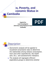 Tobacco, Poverty, and Socioeconomic Status in Cambodia