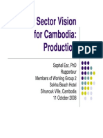 Poultry Sector Vision for Cambodia