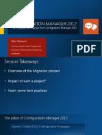 Migrate SCCM 2007 to SCCM 2012