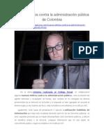 Nuevos Delitos Contra La Administración Pública de Colombia
