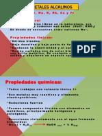 Periodicidad Química Elementos Representativos