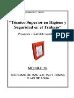 Modulo II-16 - Sistemas de Mangueras y Tomas F