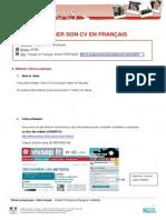 Creer Cv Voyages en Francais Pratique