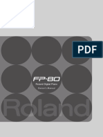 Roland FP-80 Owner Manual