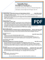 Samantha Dean Resume August 2014