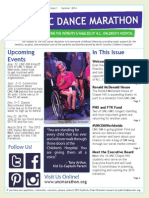Summer 2014 UNC Dance Marathon Newsletter