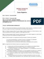Carta Orgánica Partido Socialista Tucumán