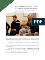 Las Falsas Denuncias en Colombia