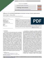 PINO DISCO Influence Ofcrosslinkedpolyethylenestructureonwearofjointreplacements