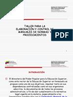 Elaboracion de Manuales de Normas y Procedimientos