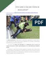 Colombia ¿Cómo Saber Si Has Sido Víctima de Abuso Policial?