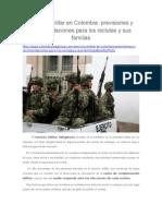 Servicio Militar en Colombia, Previsiones y Recomendaciones Para Los Reclutas y Sus Familias