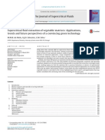 Supercritical Fluid Extraction of Vegetable Matrices