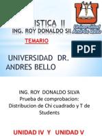 Distribucion de Chi Cuadrado y T de Students