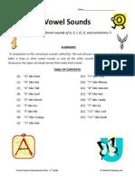 Vowel Sounds Collection Second Grade Reading Comprehension Worksheets