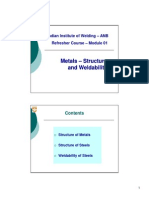 01_Metals Structure & Weldability