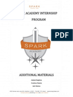 Spark Academy- Additional Docs