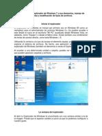 Importancia Del Explorador de Windows 7 y Sus Elementos