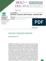 Javier Echeverria-Educacion y Tecnologias Telematicas