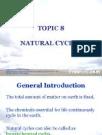 Topic 8 Natural Cycles