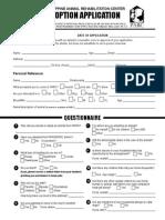 PAWS Adoption Application Form