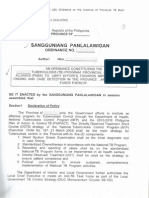 Generic Version of a Proposed Lgu Ordinance on the Creation of