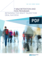 Survey of Retention and Transaction Programs Retaining the Right Talent