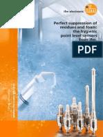 ifm hygienic point level sensors LMT GB 2014