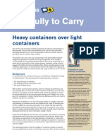 Heavy Containers Over Light Containers