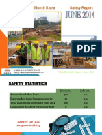 Monthly Safety Report June 2014